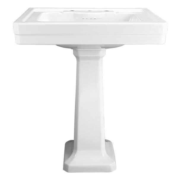 Fitzgerald 28 Inch Pedestal Bathroom Sink