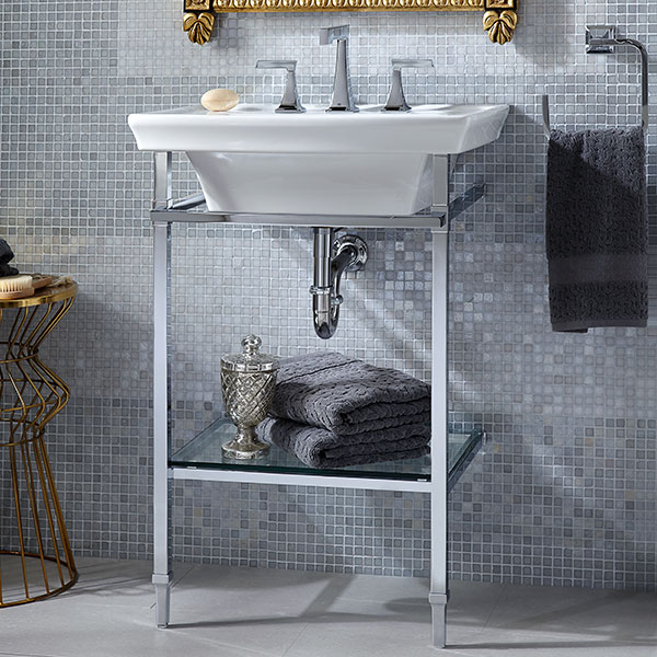 Wyatt Console Sink Polished Chrome D21460024 002 Utomee