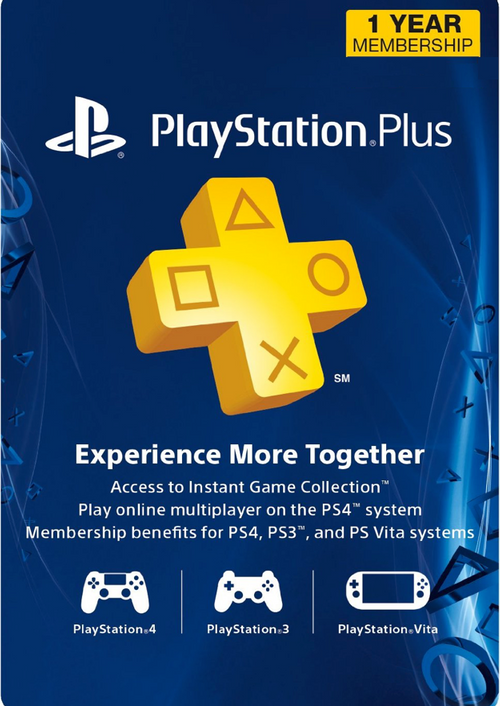 $30.59 One – Year PlayStation Plus Membership (PS+)